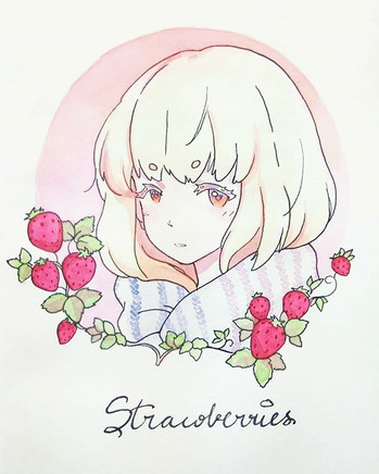 Strawberries._Finished the piece from to