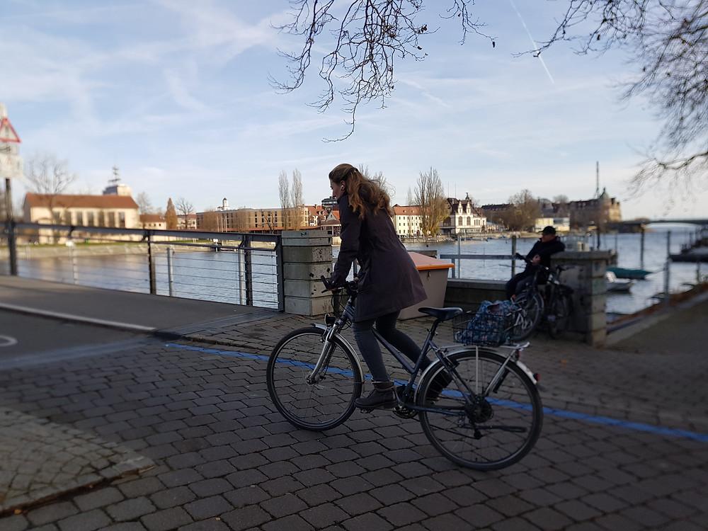 Mein Lieblingsort  - die Fahrradbrücke in Konstanz