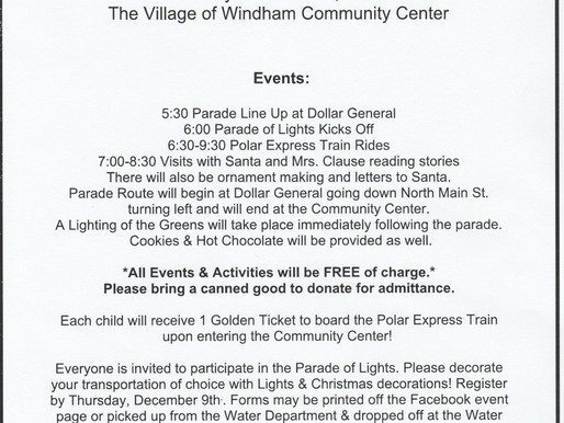 5th Annual Parade of Lights & Polar Express Christmas