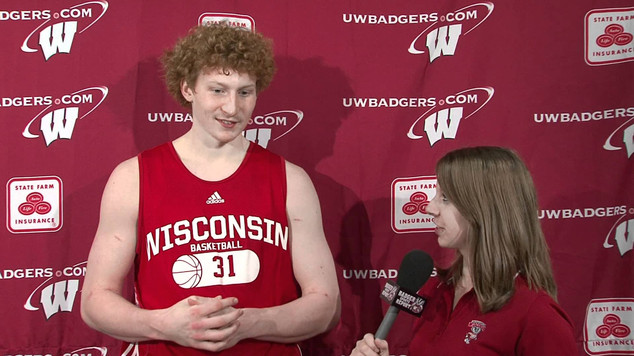 On-camera reporter for the Badger Sports Report.