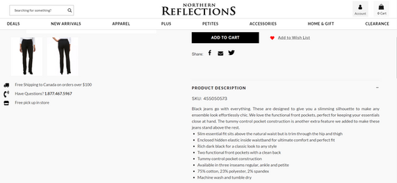 Northern Reflections Product Description