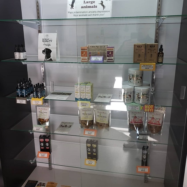 Wide selection of pet CBD products