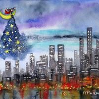 Illustration de l'artiste peintre Michele Pincemin