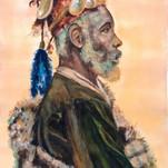 portrait par l'artiste peintre Michèle Pincemin