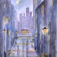 Illustration aquarelle par l'artiste peintre Michele Pincemin