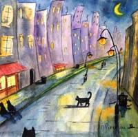 Illustration aquarelle de l'artiste peintre Michele Pincemin