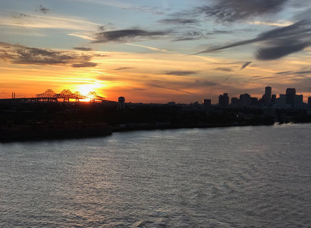 Time-lapse of Carnival Dream Leaving Port of New Orleans