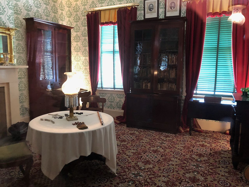 One of the rooms from the William Johnson home