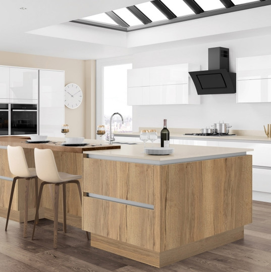 Moderna Tempo Halifax Oak with Image Gloss