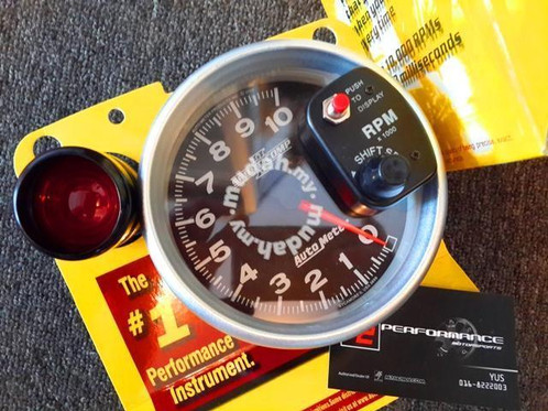autometer rpm meter tachometer blackface
