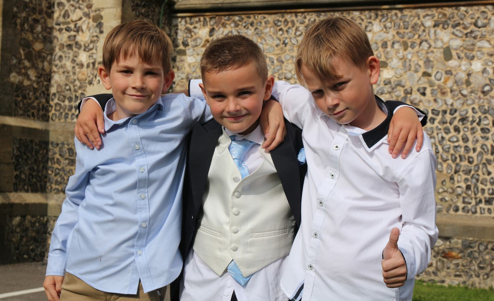 Wedding Photographer Fareham- Boys pose