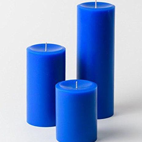 Jasmine Aroma Blue Pillar Candle set