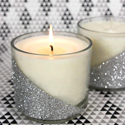 Glister Silver Dwarf Candles - Cinnamon Aroma - Set of 2