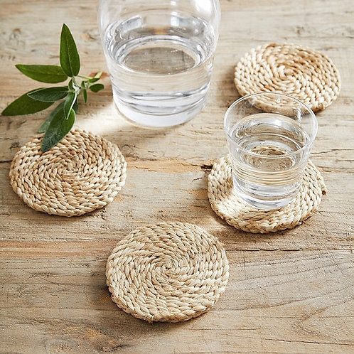 Jute Round Coasters Set of 4