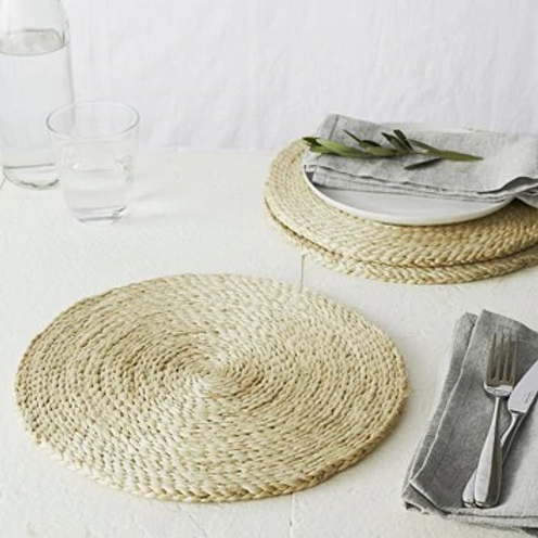 Jute Round Placemats Set of 4