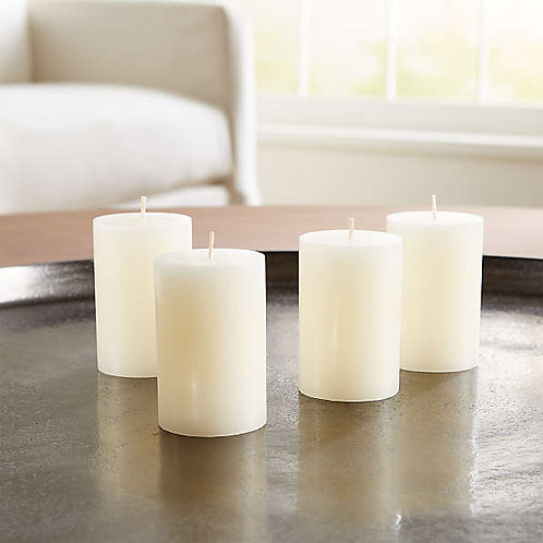 Coffee Aroma Ivory Candles - Set of 4