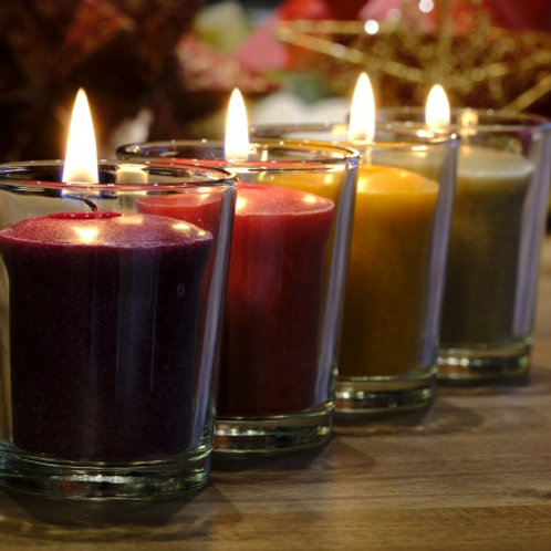 Gnome Coloured Candles - Lavender - Set of 4