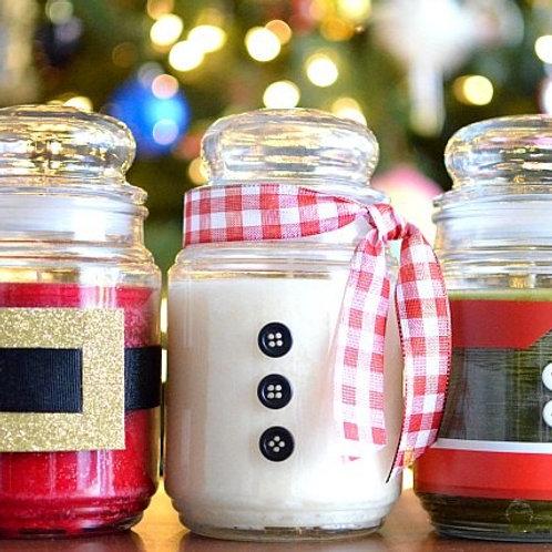 Santa Clause Candles Set of 3