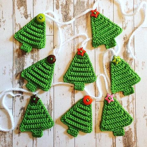 Crochet ChristmasTree Bunting