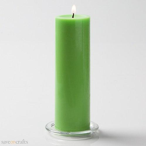 Mint Green Aroma Pillar Candle (Large)