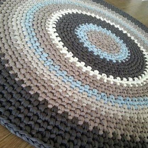 Hand Crocheted Floor Rug