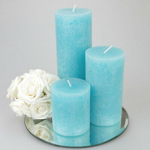 Aqua Blue Aroma Candle Set