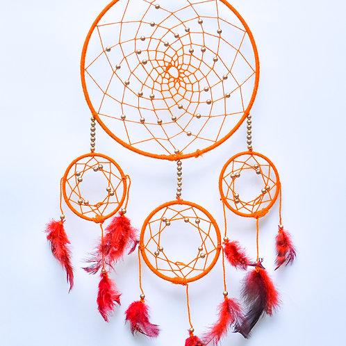 Sunny Orange Dream Catcher