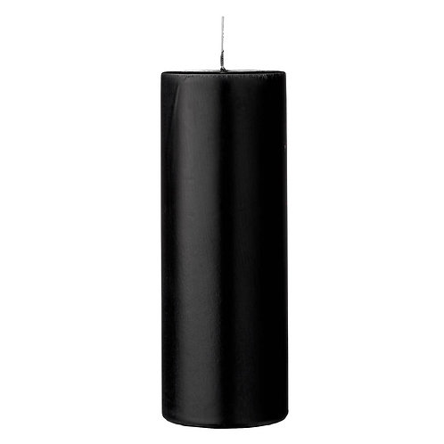 Black Beauty Aroma Pillar Candle Tall