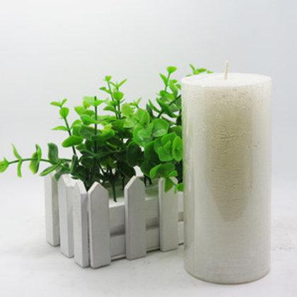 Snow White Aroma Pillar Candle Large