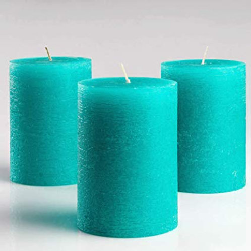 Pleasant Teal Aroma Pillar Candle Large