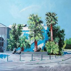 Le studio Huile sur toile 90 x 90 cm, 2021