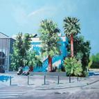 Le studio Huile sur toile 90 x 90 cm, 20