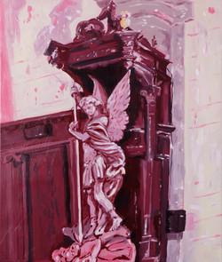 Vue des idoles au crepuscule huile sur toile 55 x 46 cm 2021