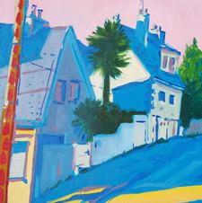 Vue du Boulevard L.Blum Huile sur toile