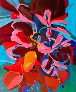 « Interlude floral/2 » Huile sur toile, 55 x 46 cm, 2020