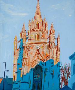 Vue Notre Dame de Paradis huile sur toile 38 x 46 cm 2021