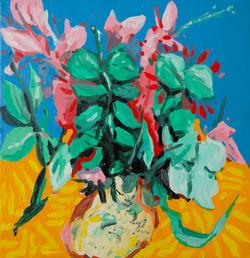 nature morte au vase huile sur toile 30 x 30 cm 2020