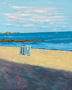 La côte ombragée huile sur toile 41 x 33 cm 2021