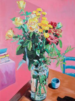 le bouquet de kerc'had Huile sur toile 73 x 60 cm 2021