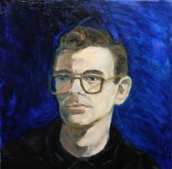 autoportrait huile sur toile 40 par 40 cm 2015