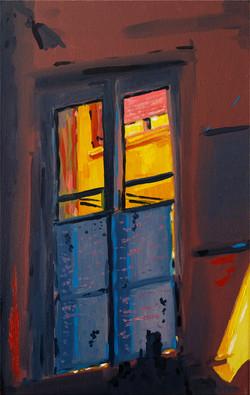 contemplation nocturne huile sur toile 27 x 40 cm 2020