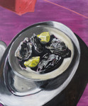 huîtres et citrons  huile sur toile 55 x