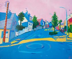 """""""Vue du Boulevard L.Blum"""". Huile sur toile, 100 x 80 cm, 2020"""
