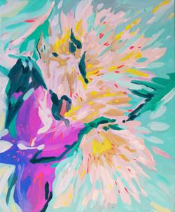 « Interlude floral/4 » Huile sur toile, 55 x 46 cm, 2020