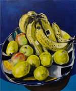 coupe de fruit huile sur toile 65 x 54 c