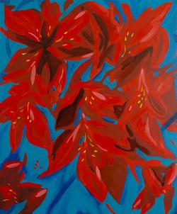 « Interlude floral/6 » Huile sur toile, 55 x 46 cm, 2020