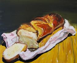 la brioche huile sur toile 38 x 46 cm 2020