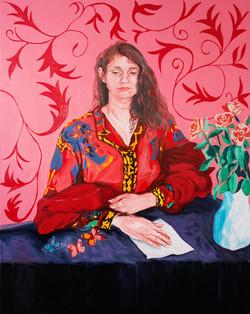"""""""L'aube d'Airain. Portrait de Lisa"""". Huile sur toile, 130 x 162 cm, 2020"""