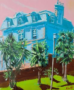 la maison aux palmiers huile sur toile 5