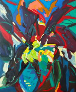 « Interlude floral/1 » Huile sur toile, 55 x 46 cm, 2020